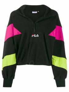 Fila color-block half-zip top - Black