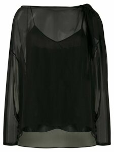 Emilio Pucci layered sheer blouse - Black
