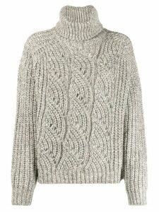Ba & Sh Azure roll-neck jumper - NEUTRALS