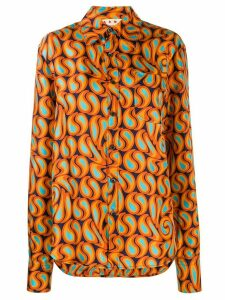Marni graphic print shirt - ORANGE