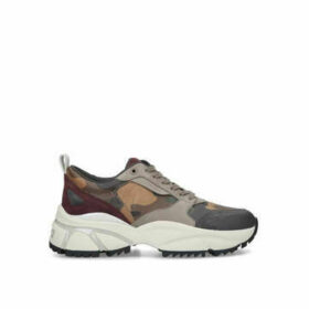Michael Michael Kors Ethan Chunky Combo Snkr - Khaki Camouflage Chunky Trainers