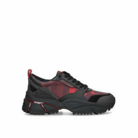Michael Michael Kors Ethan Chunky Combo Snkr - Black And Red Chunky Trainers