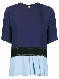 Marni colour block T-shirt - Blue
