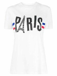 Être Cécile Paris print crew-neck T-shirt - White