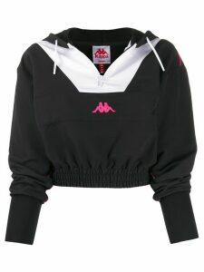 Kappa cropped hooded top - Black