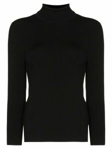 Joseph knitted turtleneck top - Black