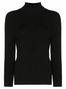 Joseph knitted turtleneck top - Black