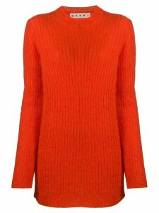 Marni ribbed crew neck jumper - ORANGE