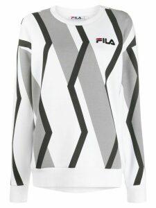 Fila zig-zag pattern sweatshirt - White