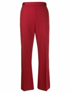 Marni button detail cropped trousers - Red