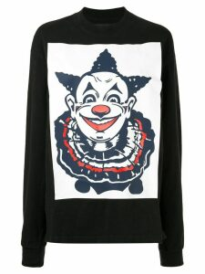 Aganovich clown print longsleeved T-shirt - Black