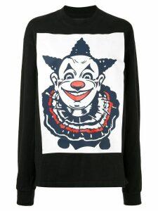 Aganovich clown print longsleeved T-shirt - Black