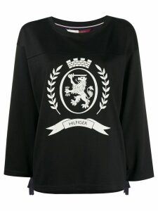 Hilfiger Collection football crest jumper - Blue