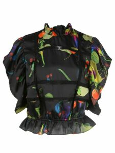Cynthia Rowley Camille silk blouse - Black