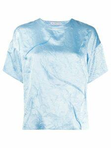 Rejina Pyo Mattie Crinkle Satin T-shirt - Blue