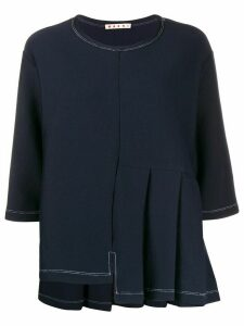 Marni deconstructed pleated top - Blue