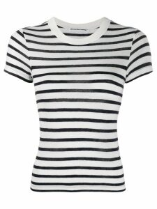 T By Alexander Wang striped print t-shirt - Blue