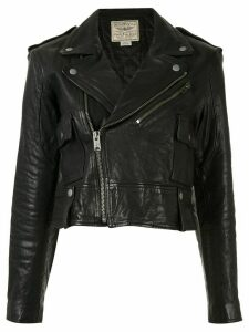 Polo Ralph Lauren cropped biker jacket - Black