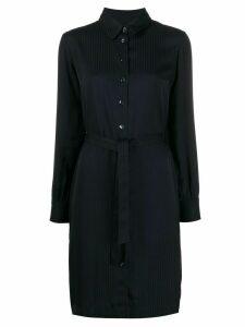A.P.C. striped belted shirt dress - Blue