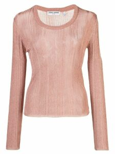 Opening Ceremony knitted long-sleeve top - PINK