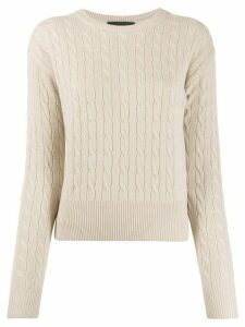 Nili Lotan cable-knit cashmere pullover - NEUTRALS