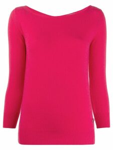 Emilio Pucci boat neck knitted top - PINK