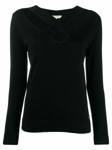 Emilio Pucci crossover front detail jumper - Black