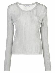 Opening Ceremony knitted long-sleeve top - SILVER