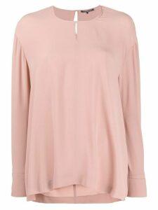 Luisa Cerano draped longline blouse - PINK