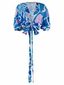 Emilio Pucci abstract print blouse - Blue