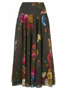 Samantha Sung A-line midi skirt - Black