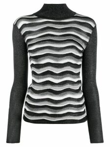 Emilio Pucci glitter effect knitted top - Black