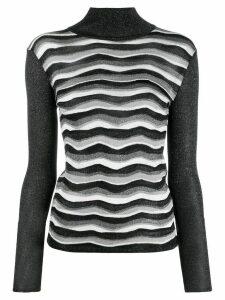 Emilio Pucci glitter effect knitted top - Black