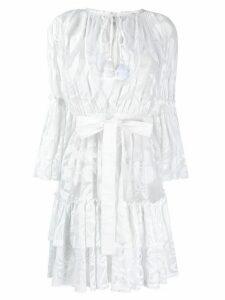 Emilio Pucci floral mesh short dress - White