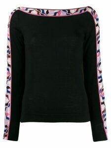 Emilio Pucci abstract print detail jumper - Black