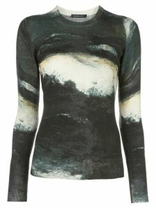 Samantha Sung Womens Black Knit pullover