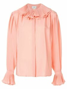 Giambattista Valli silk frilled-collar blouse - PINK