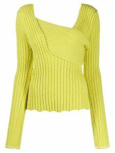 Bottega Veneta interwoven ribbed jumper - Yellow