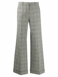 PS Paul Smith checked wide-leg trousers - Black