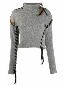 Acne Studios stitched jumper - Grey