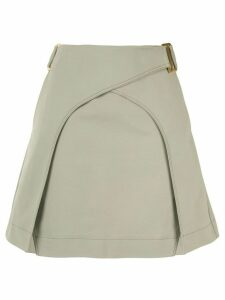Dion Lee panelled A-line skirt - Green