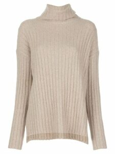 Nili Lotan Nashira ribbed-knit jumper - NEUTRALS