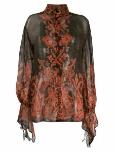 Etro paisley print sheer blouse - Black