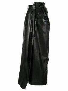 A.W.A.K.E. Mode asymmetric wrap skirt - Black