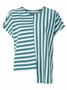 Osklen Summer Stripe asymmetric blouse - Blue