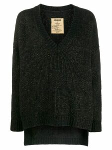 Uma Wang oversized V-neck jumper - Black