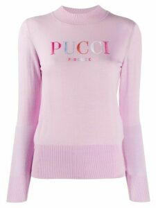 Emilio Pucci embroidered logo wool jumper - Pink