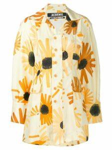 Jacquemus floral La Chemise Roman shirt - Yellow