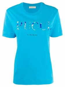 Emilio Pucci logo printed T-shirt - Blue