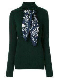 Jejia scarf detail jumper - Green